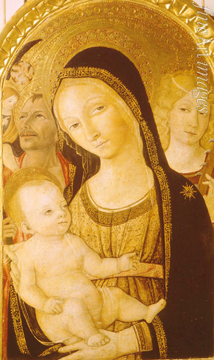 Matteo di Giovanni - Madonna and Child with Saints Catherine and Christopher