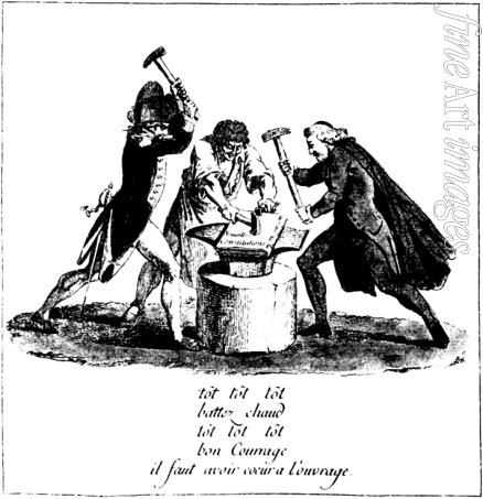 French master - The Three Estates Forging a New Constitution (Cartoon of the French Revolution)