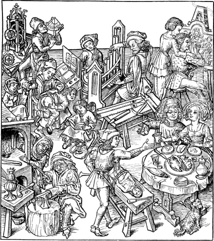 Master of the Housebook - Mercury and His Children. Illustration from the
