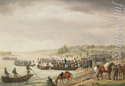 Adam Albrecht - Italian Corp of Eugene Beauharnais Crossing the Niemen on 30 June 1812