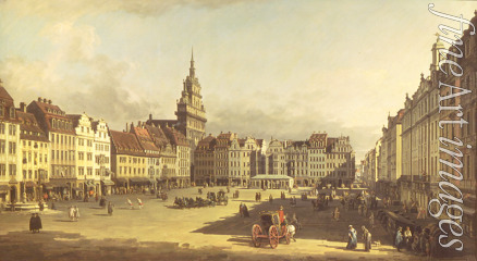 Bellotto Bernardo - The old Market place in Dresden