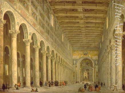 Pannini (Panini) Giovanni Paolo - Interior of the Basilica of St Paul Outside the Walls in Rome