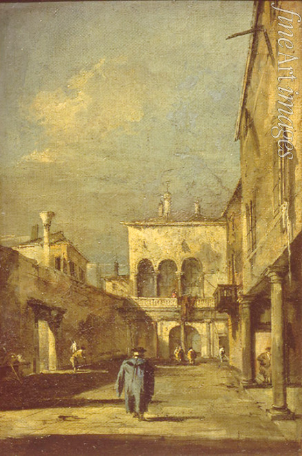Guardi Francesco - Venetian courtyard