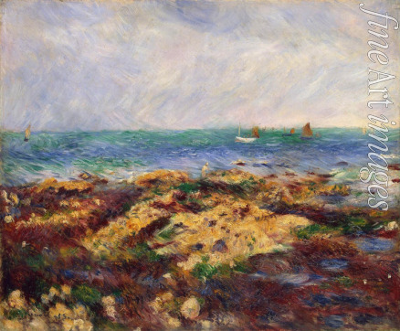 Renoir Pierre Auguste - Low Tide at Yport