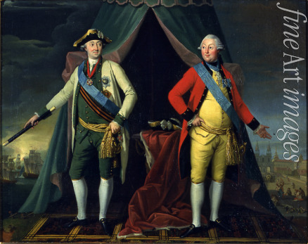 Velly Jean Louis de - Portrait of count Grigory Orlov (1734-1783) and Count Alexey Orlov of Chesma (1737–1808)