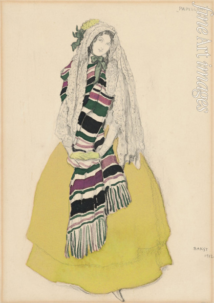 Bakst Léon - Costume design for the ballet Les Papillons by Robert Schumann
