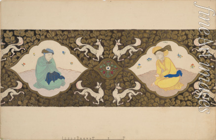 Bakst Léon - Stage design for the ballet Istar by Bohuslav Martinu