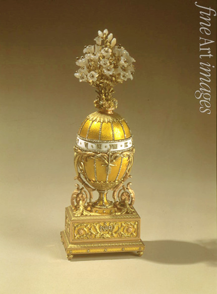 Russian Master Factory Fabergé - The Bouquet of Lilles Clock Egg (or the Madonna Lily Egg)