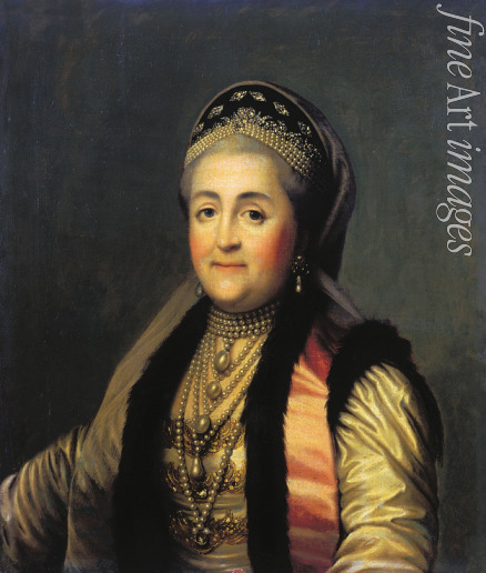 Erichsen Vigilius - Portrait of Empress Catherine II (1729-1796) in kokoshnik