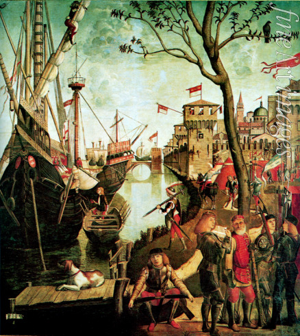 Carpaccio Vittore - Arrival of Saint Ursula in Cologne During the Siege by the Huns (The Legend of Saint Ursula)