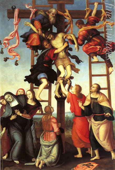 Perugino - The Descent from the Cross