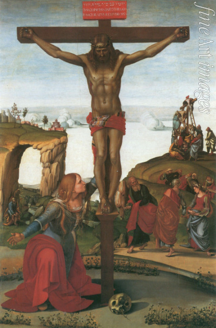 Signorelli Luca - The Crucifixion with Mary Magdalene