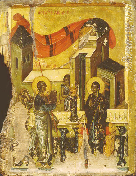Byzantine icon - The Annunciation