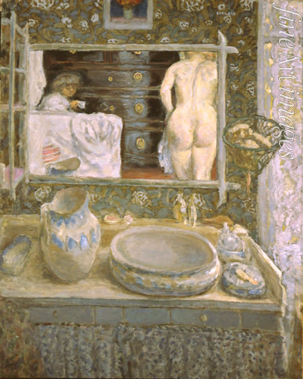 Bonnard Pierre - Mirror above a washstand