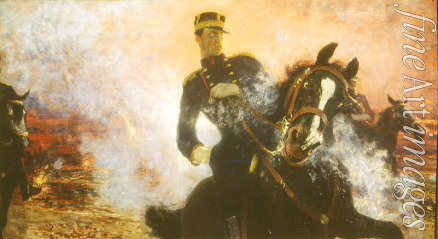 Repin Ilya Yefimovich - King Albert I of Belgium during the Dam Explosion in 1914