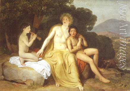 Ivanov Alexander Andreyevich - Apollo, Hyacinth and Cyparissus singing and playing