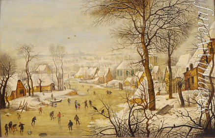 Brueghel Pieter the Younger - Winter landscape with a Bird Trap