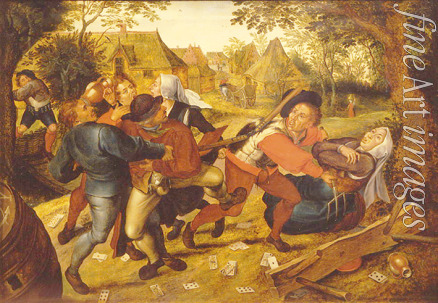 Brueghel Pieter the Younger - Peasants Fighting Over Cards