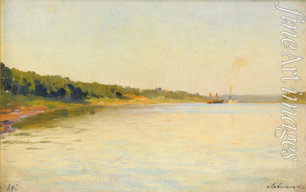 Levitan Isaak Ilyich - The Volga River Bank