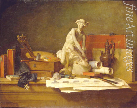 Chardin Jean-Baptiste Siméon - Still Life with Attributes of the Arts
