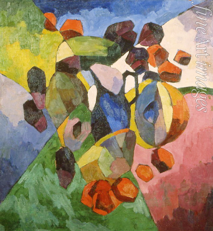 Lentulov Aristarkh Vasilyevich - Blue jug and fruits
