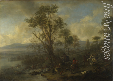 Wouwerman Philips - A Stag Hunt