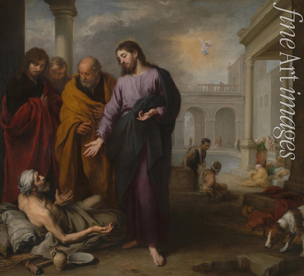 Murillo Bartolomé Estebàn - Christ healing the Paralytic at the Pool of Bethesda