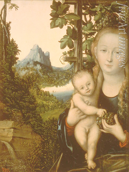 Cranach Lucas the Elder - Virgin and Child