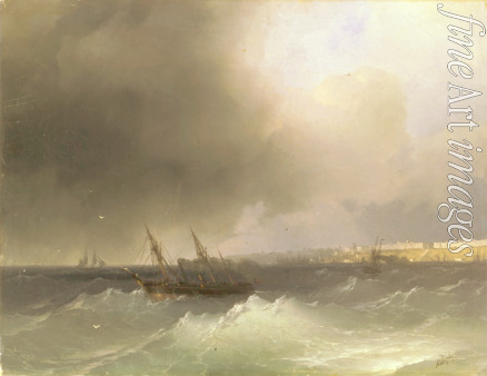 Aivazovsky Ivan Konstantinovich - View of Odessa from the sea