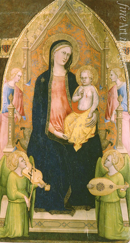 Cristiani Giovanni di Bartolomeo - The Virgin and Child enthroned with attendant Angels