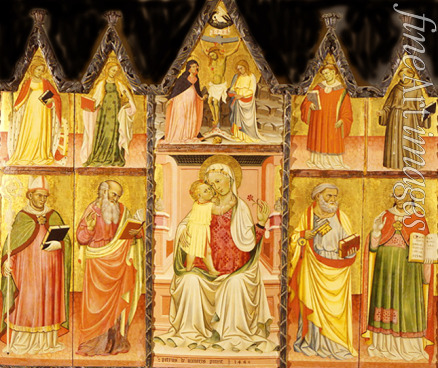 Lianori Pietro di Giovanni - Madonna and Child with Saints (Polyptych, ten separate panels)