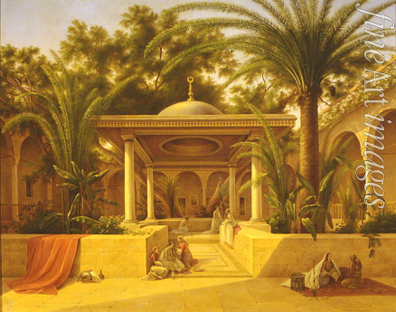 Chernetsov Grigori Grigorievich - Fountain at a Mosque in Cairo