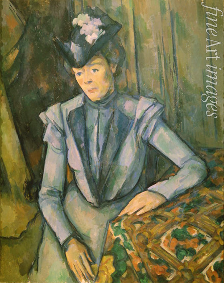Cézanne Paul - Lady in blue (Madame Cézanne)
