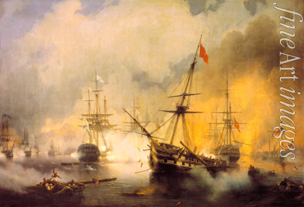 Aivazovsky Ivan Konstantinovich - The Naval Battle of Navarino on 20 October 1827