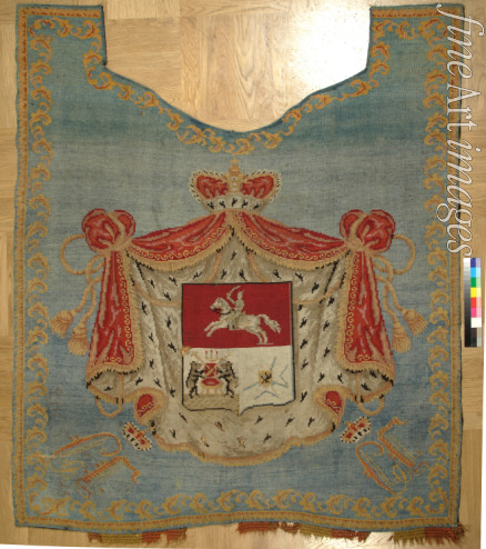 Anonymous master - A horse blanket with the coat of arms of the Golitsyn House