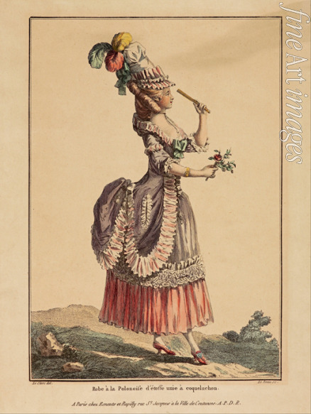 Le Beau Pierre Adrien - A Polonaise Dress with draped overskirt. (From