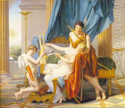 David Jacques Louis - Sappho, Phaon and Cupid