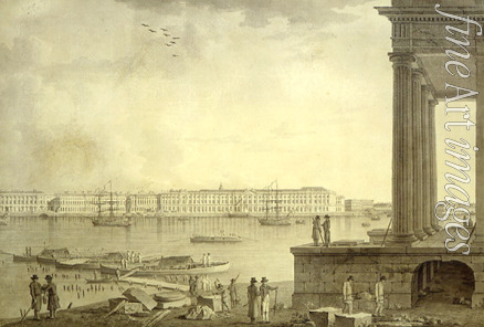 Paterssen Benjamin - View of the Winter Palace and the Stock Exchange in Saint Petersburg