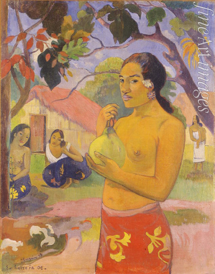 Gauguin Paul Eugéne Henri - Eu haere ia oe (Woman Holding a Fruit. Where Are You Going?)