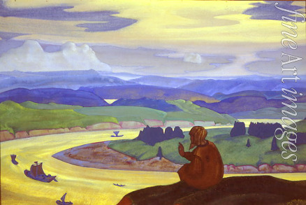Roerich Nicholas - Procopius the Blessed Prays for the Unknown Travelers