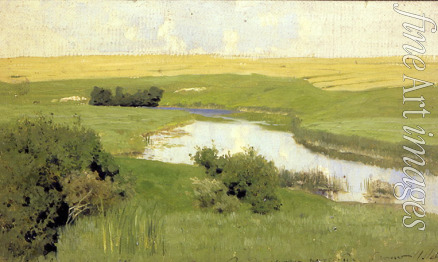 Levitan Isaak Ilyich - Small River Istra