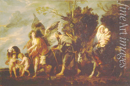 Jordaens Jacob - The Flight into Egypt