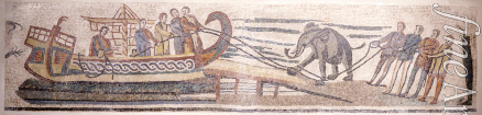 Classical Antiquities - Boarding an elephant on a ship