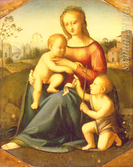 Italian master - Virgin and child with John the Baptist as a Boy