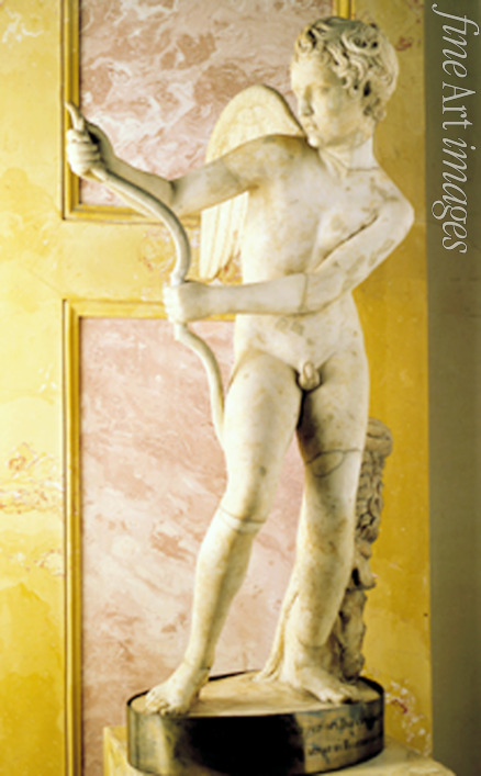 Art of Ancient Rome Classical sculpture - Eros Stringing His Bow (Roman copy of Greek statue by Lysippus)