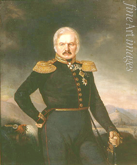 Zakharov (Chechenets) Pyotr Zakharovich - Portrait of the commander-in-chief of the Russian Army on the Caucasus Aleksey Yermolov (1777-1861)