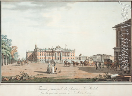 Paterssen Benjamin - View of the Michael Palace in St. Petersburg