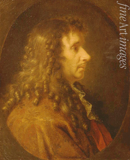 Le Brun Charles - Portrait of the author Moliére (1622-1673)