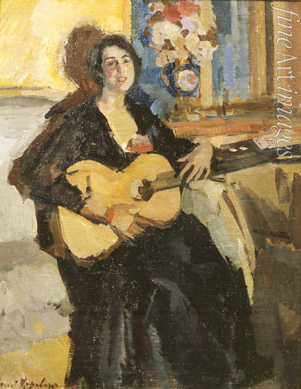 Korovin Konstantin Alexeyevich - Lady with a guitar