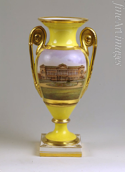 Master of the A. Popov Factory - Decorative vase with the view of the Smolny-Institute for noble girls